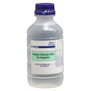 Sodium Chloride 0.9% Saline - 500ml  Pour Bottle